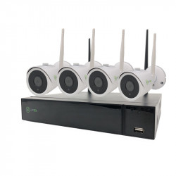 Kit Videosorveglianza wireless ip 4 telecamere ip 4 mxp hdd 1000tb